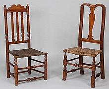 Group of (2) 18th century American side chairs