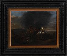 17th/18th century Dutch School, battle scene