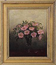 Still life of flowers, oil on canvas,