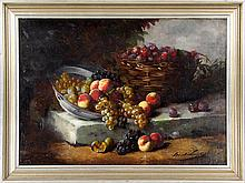 Still life of fruit  oil on canvas