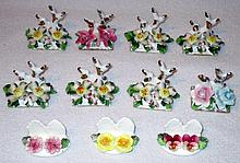 Dainty Floral Ceramic Place Card Holders