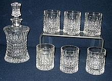 Crystal Decanter & 6 Glasses