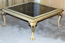 Coffee Table w/Inset Under Glass