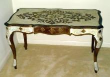Italian White Coffee Table w/Gold Trim
