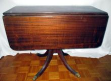 Mahogany Drop Leaf Federal Style Table
