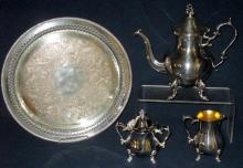 5 Piece Silverplate Coffee/Tea Service