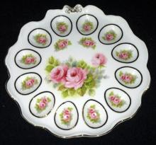 Rose Decorated Egg Plate
