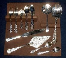 41 Pieces Silverplated Dessert & Serving Flatware