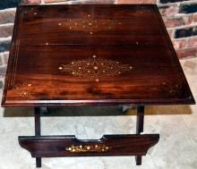 Folding Mahogany Inlaid Side Table
