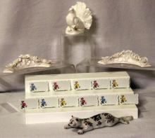 Porcelain Place Cards, Turkey, Cat & Decor Ring