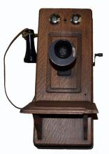 Vintage Oak Wall Phone
