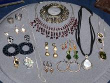 Black & White & Silver Costume Jewelry