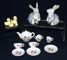 Japanese Child's Teaset, Ducks & Sadek Rabbits