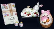 Astor Lane Bunny w/Easter Eggs & Cloth