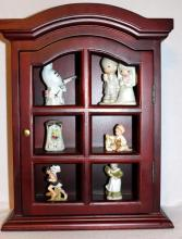 Table Display Cabinet w/Small Figurines