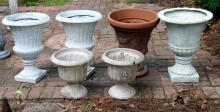 6 Outdoor Urns