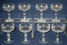 Cut Glass Champagne/Sherbet Glasses