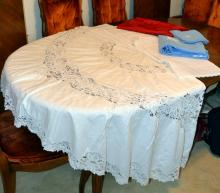 Lace Embroidered Tablecloth Plus