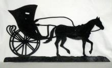 Vintage Metal Horse & Carriage Wall Art