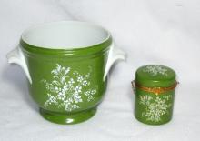 French Limoges Cache Pot & Covered Box