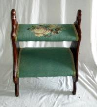 Bed Steps w/Needlepoint Cover