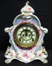 Ansonia 1881 Ceramic Mantle Clock