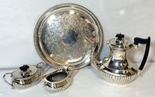 4 Piece Silverplated Tea Service