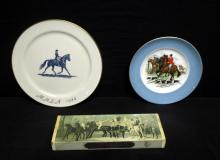 Hunt Scene Plates & Horse Decor Fireplace Matches