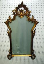 Chippendale Style Gold Mirror