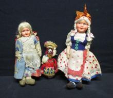 Three World Dolls