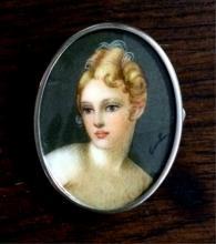 Sterling Signed Portrait Pin/Pendant