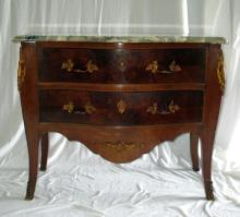 2-Drawer Chest w/Ormolu & Marble Top