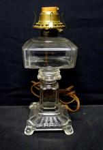 Clear Electrified Oil Lamp