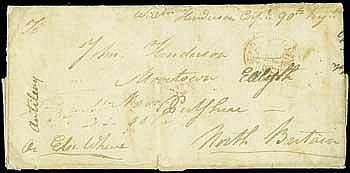 x St. Vincent Soldier's Letter  1813 (14 Feb.) entire letter headed