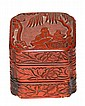 Chinese Ming Carved Lacquer Scholar Box