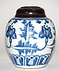 Chinese Ming Blue White Porcelain Jar