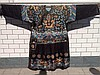 Chinese Black Embroidery Dragon Robe