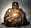Large Chinese Bronze Happe Buddha