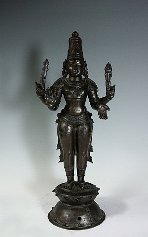Indian Bronze Standing Shiva