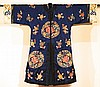 Chinese Blue Embroidery Robe