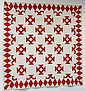 Early Red & White Hand Made Quilt