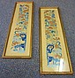 2 Oriental Silk Needlepoints