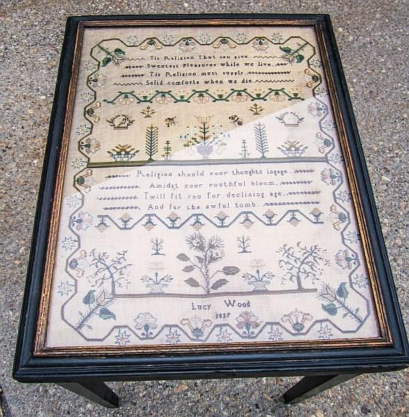 Beautiful Sampler Table Dated 1827