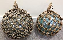 2 Macrame and glass balls