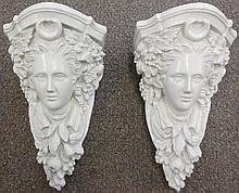 2 plaster wall sconces
