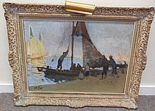 Pay Attention!!! Impressionist painting - Harbor Scene