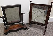 Pair of 19th Century shaving mirrors