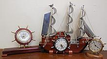 3 Nautical Clocks