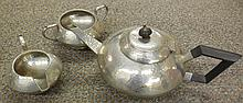 Art Deco Bell Brand Hammered english 3 Piece Tea Service