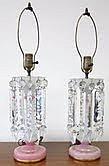 Pair Luster Lamps